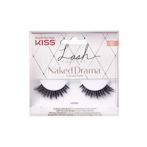 KISS 96738 Lash Couture Naked Drama Collection, Kit contient 1 Paire de Cils et de colle.