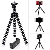 SWAPKART Gorilla Tripod/Mini Tripod 13 inch for Mobile Phone with Holder for Mobile, Flexible Gorilla Stand for DSLR & Action Cameras and Other uses