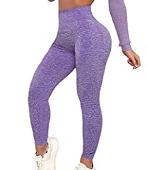 ❤ Material: 88% polyester 12% spandex. Super soft and stretchy, Extremely breathable, Non See-through, No pilling, Non-fading, Stretch, Squat proof, No limitation. ❤ High Waist and 4 way stretch: These workout leggings are with a wide, high rise wais...