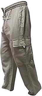 Shopoholic Fashion Mens Light Weight Plain Hippy Combat Trouser