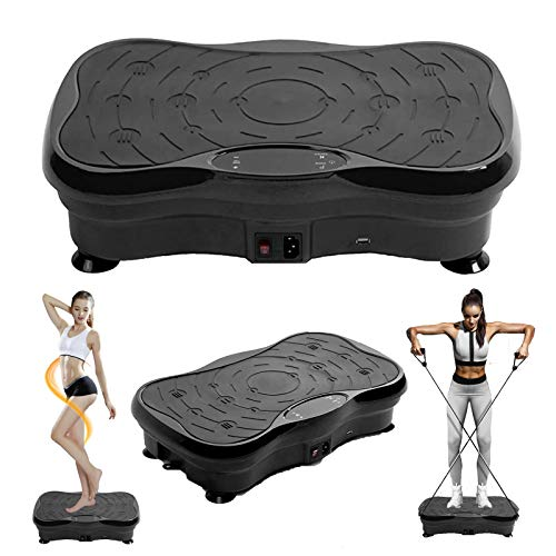 Vibration Platform Exercise Machines, Whole Body Vibration Plate with Bluetooth Speakers and LCD Display, Home Training Equipment for Weight Loss & Toning, Max User Weight 300 lbs (Black)