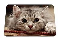 22cmx18cm マウスパッド (美しい猫猫マズルふわふわ) パターンカスタムの マウスパッド