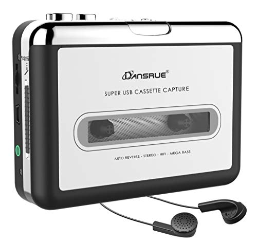 Updated Cassette to MP3 Converter, USB Cassette Player from Tapes to MP3, Digital Files for Laptop PC and Mac with Headphones from Tapes to Mp3 New Technology,Silver B1