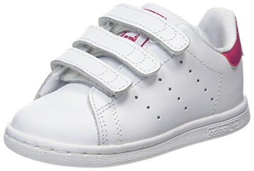 adidas Unisex Baby Stan Smith Gymnastikschuhe, Elfenbein (Ftwwht/ftwwht/bopink Bz0523), 26 EU