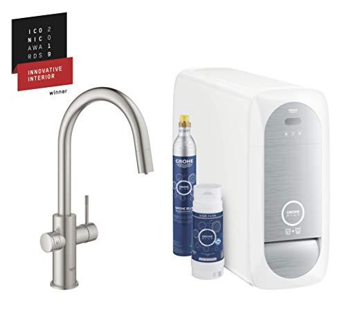 GROHE Blue Home | Küche - Spültischarmatur mit FILTERFUNKTION und WiFi | C-Auslauf Starter Kit | 31541DC0