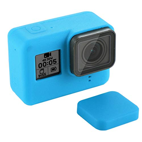 Shan-S for Go Pro HERO7 /6/5 Silicone Protective Case,Soft Dustproof Camera Protective Case Cover Skin with Lens Cap for GoPro Hero Camera