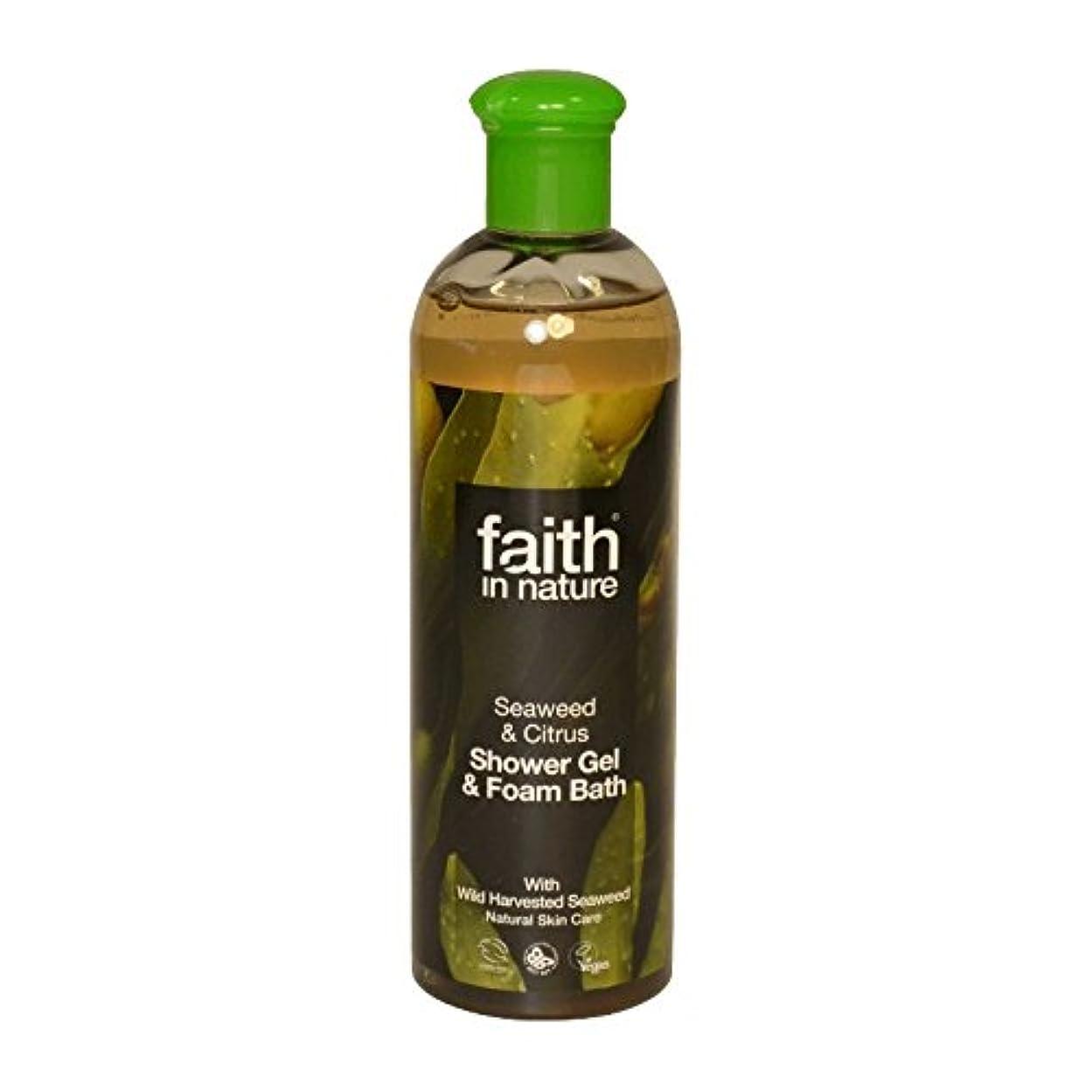 苛性別のレーザ自然の海藻&シトラスシャワージェル&バス泡400ミリリットルの信仰 - Faith in Nature Seaweed & Citrus Shower Gel & Bath Foam 400ml (Faith in Nature) [並行輸入品]