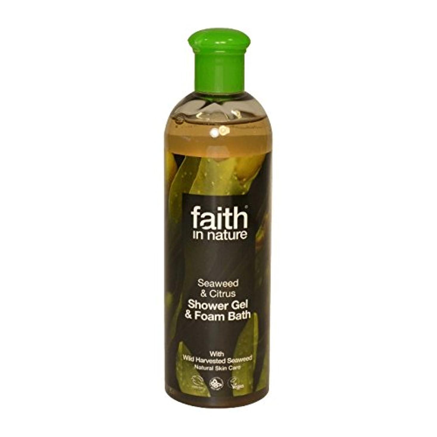 馬鹿げた前者クローゼットFaith in Nature Seaweed & Citrus Shower Gel & Bath Foam 400ml (Pack of 6) - 自然の海藻&シトラスシャワージェル&バス泡400ミリリットルの信仰 (x6) [並行輸入品]