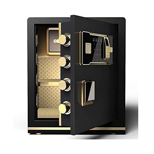 DJDLLZY Cajas de seguridad Teléfono de la contraseña de la huella digital Cajas contra incendios, teclado digital Tecla segura, segura e impermeable Suelo de oficina a prueba de agua con para el hogar