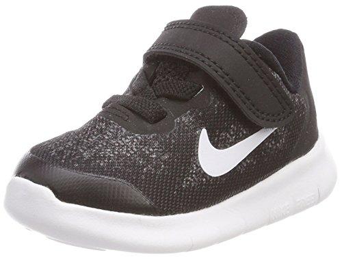 Nike Unisex Baby Free RN 2017 (TDV) Hausschuhe, Schwarz (Black/White/Dark Grey/Anthracite 002), 19.5 EU
