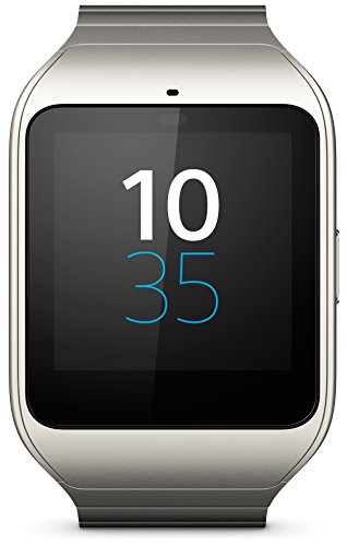 Sony Mobile SWR50 SmartWatch 3 Fitness- und Aktivitätstracker Armband Kompatibel mit Android 4.3+ Smartphones - Silber Metall