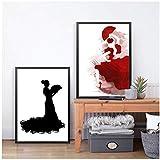 wzgsffs Spanische Flamenco-Tänzerin Kunstdruck Poster