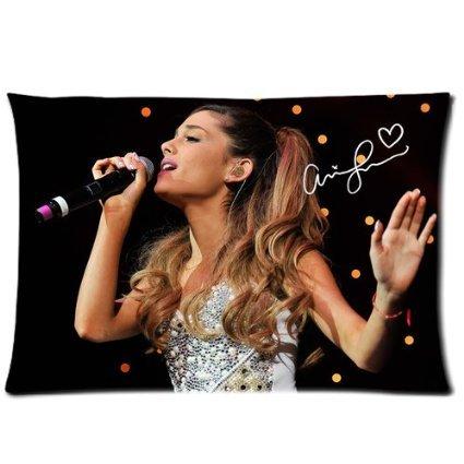 weiche Reißverschluss Kissenbezüge Kissen Schutzhülle 40,6x 61cm (Zwei Seiten) Singen Ariana Grande Sie wirklich Musik Signature Muster CMF _ 001