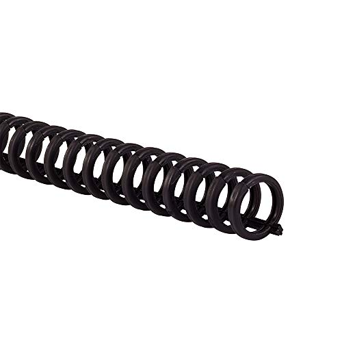 "Swingline GBC Binding Spines / Spirals / Coils, 1/2"" Diameter, 85 Sheet Capacity, ProClick, Black, 25 Pack (25156600)"