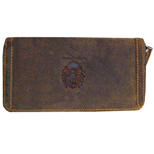 Baron of MALTZAHN Geldbörse Portemonnaie RIBANNA für Damen aus braunem Western Leder