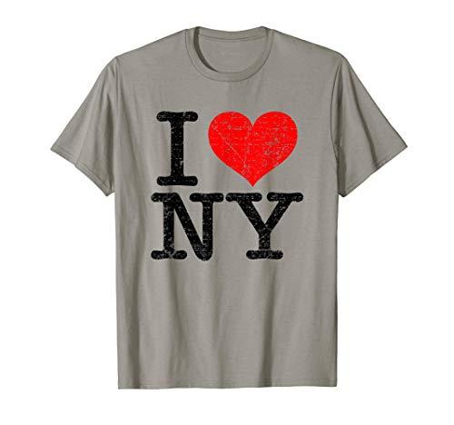 I Love NY New York Vintage Classic Red Heart gift Camiseta