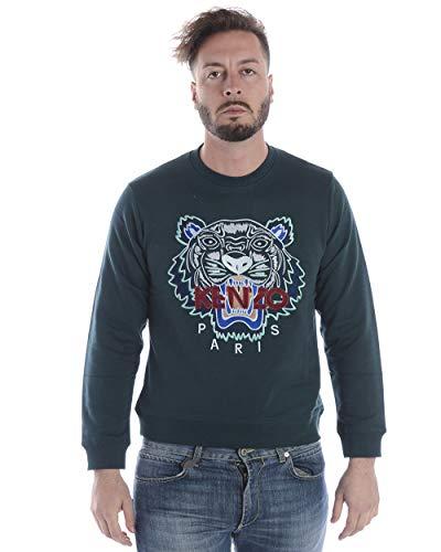 Kenzo - Sweatshirt Man 4XA5SW001 GRÜNES Sweatshirt Tiger KLASSISCHES Sweatshirt XL