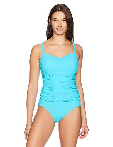Profile by Gottex Women's Shirred One Piece Swimsuit (D Cup) Aqua 8D