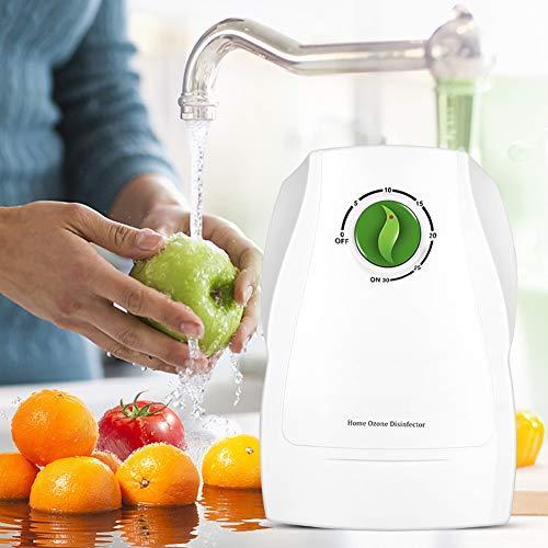 Máquina Generadora De Ozono Aire Agua Ionizador Purificador Esterilizador Desinfectante Hortalizas Fruta Esterilización Ozonizador Generador para El Hogar, Aire, Agua, Verduras Y Frutas