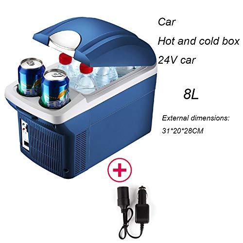 djp Refrigerador Uso del Automóvil Y del Hogar Mini Calentador De Refrigeración En Miniatura Pequeño para Estudiantes Dormitorio Individual Alquiler De Una Casa Caja Templada 24V Car-Cool Blue