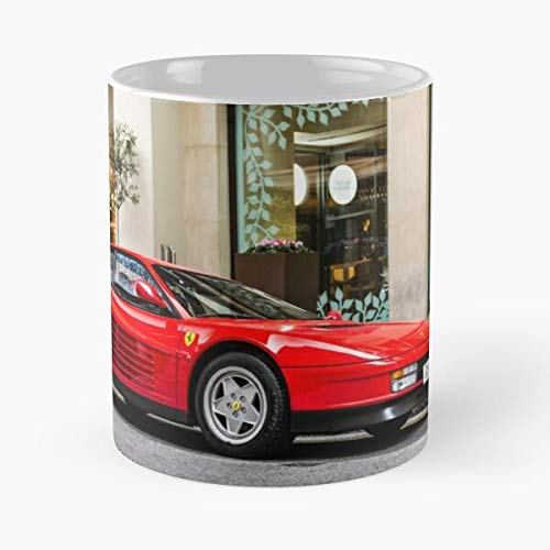 5TheWay Testarossa Ferrari Mug Best 11 oz Kaffeebecher - Nespresso Tassen Kaffee Motive