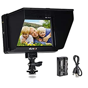 VILTORX® DC-70 II 7 Inch HD Support 4K Signal HDMI Input Output Camera Video Field Monitor for DSLR Camera Camcorder with Rechargeable F550 Battery