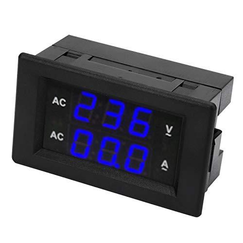 Voltímetro AC Pantalla digital LED AC 100~300V Voltímetro 0-100A Amperímetro(Azul)