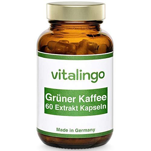Grüner Kaffee Extrakt - Hochdosiert 50% Chlorogensäure - 60 Kapseln à 496mg - Deutsche Herstellung Laborgeprüft