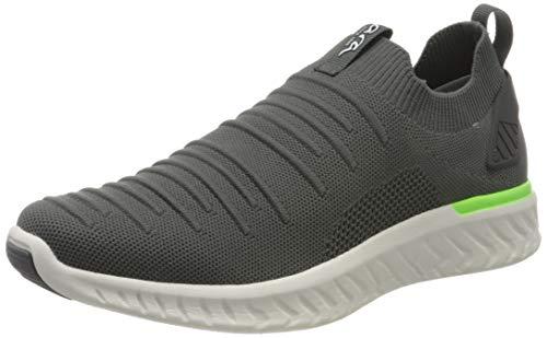 ARA Herren SAN Diego 1135096 Slip On Sneaker, Grau (Grau-Neongrün 07), 46 EU