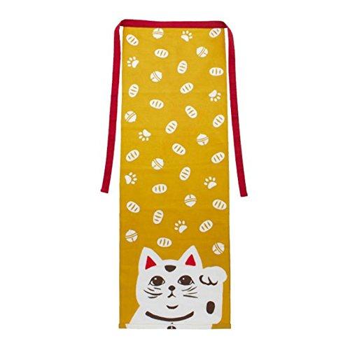 Kaya Fundoshi Japanese Traditional Underwear Manekineko (Beckoning Cat) Design Yellow