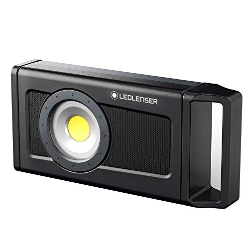 Ledlenser, iF4R Music, Rechargeable High Power LED Professional Light with Music Playing Capabilities, Bluetooth Controlled, 2,500 Lumens