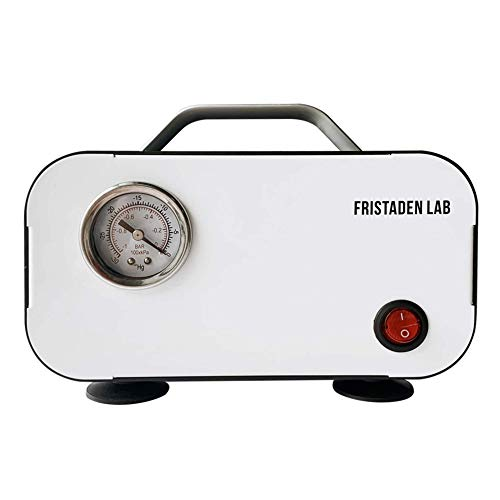 American Fristaden Lab Oilless Vacuum Pump | Fast 10L Per Minute Pumping Speed | Small Compact Portable Vacuum Pump | 20W Oilless Motor and Diaphragm Pump | 1 Year Warranty