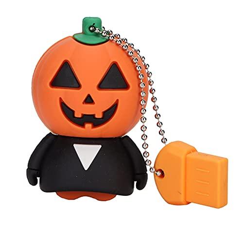 U Disk Cute Cartoon PumpkinFlash Drive Monster Dispositivo de almacenamiento móvil USB2.0 unidad flash de alta velocidad para el hogar oficina viajes (32GB-A)