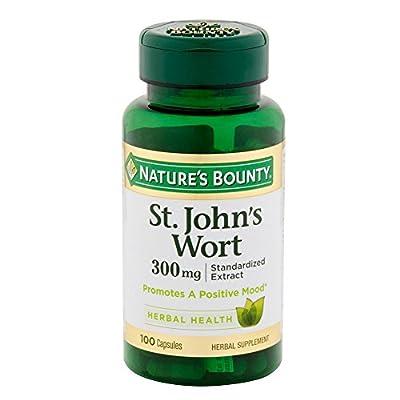Nature's Bounty St. John's Wort, Double Strength, 300mg, 100 Capsules