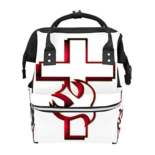 Pentecost - Mochila escolar con gran capacidad para momia, portátil, mochila de viaje, casual, para mujeres, hombres, adultos, adolescentes, niños