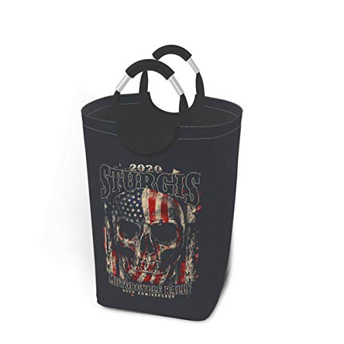 XCNGG Sturgis Dirty Clothes Bag 50 Liters Storage Capacity Retro Japanese Style with Handle Foldable Oversized Laundry Basket Dirty Clothes Basket