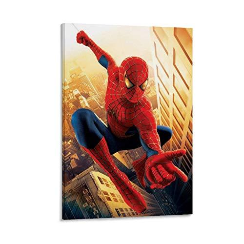 Ghychk Póster de superhéroe Spider-Man Into The Spider-Verse, pintura para dormitorio, decoración del hogar, listo para colgar, 60 x 90 cm