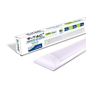 V-TAC 10W 1ft LED a tubo integrato Lampada a Tubo 3000K Bianco caldo 300x74x24mm Illuminazione a parete e soffitto 30000h Lunga durata di funzionameto