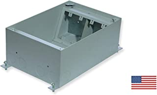 FBSC47 Seven Gang Concrete Floor Box - Outlet Box for Power, Data, Video - Audio and More Applications in Concrete Floor.