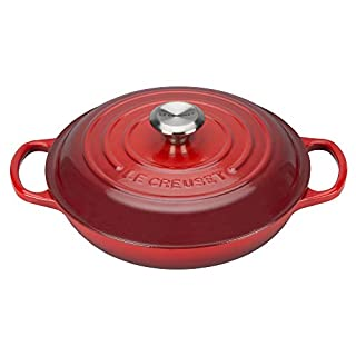 LE CREUSET Evolution Cacerola Baja Redonda, 2 L, para Todas Las Fuentes de Calor, Incl. inducción, Hierro Fundido, Rojo (Cereza), 26 cm (B00YUZ0TIE) | Amazon price tracker / tracking, Amazon price history charts, Amazon price watches, Amazon price drop alerts