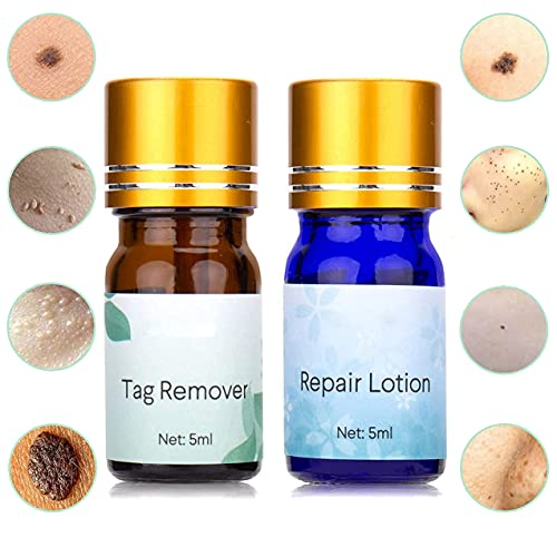 Skin Tag Remover Treatment with Repair Lotion, Mole Remover Made of...