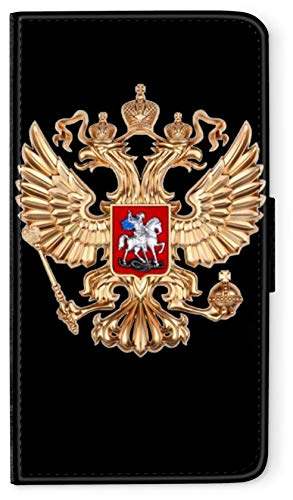 blitzversand Flip Hülle Russland Russia kompatibel für Huawei P30 LITE Adler Gold Handy Hülle Leder Tasche Klapphülle Brieftasche Etui r& um Schutz Wallet M8