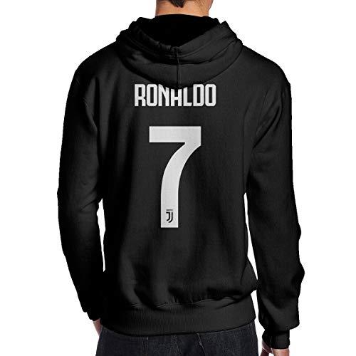 ViviHomeD CR7 Cristiano Ronaldo Men's Hoodie Sweatshirt Youth/Adult Black L