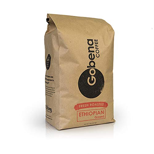 5lb Ethiopian Yirgacheffe Ground Coffee, Light Roast, 100% Arabica Specialty Coffee, 80 ounces, 5 pounds, Bulk Coffee