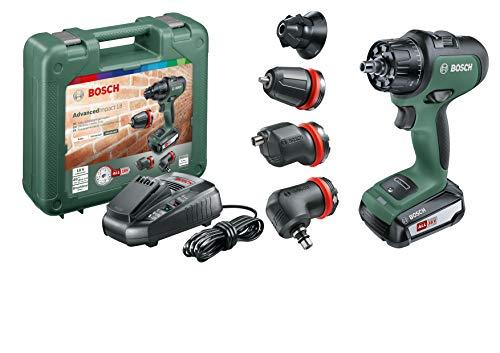 Bosch Akku Schlagbohrschrauber AdvancedImpact 18 Set (2,5 Ah Akku, 18 V, HMI, mit Zubehörteilen, im Koffer)