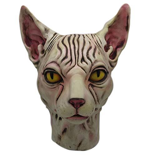 VECDY Karneval Zombie Cosplay Haarlose Katze Latex Pferdekopf Maske Kostüm Sammlerstück Prop Scary Mask Spielzeug