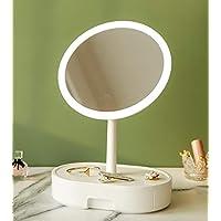 Beinocci Lighted Makeup Mirror with Storage Drawer (White)