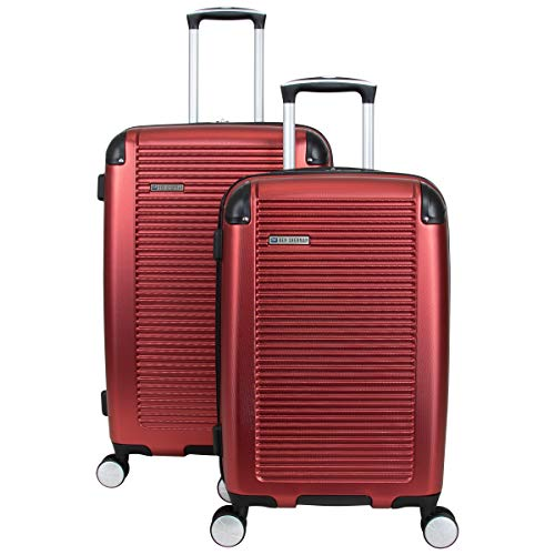 Ben Sherman Norwich Collection Lightweight Hardside PET Expandable 8-Wheel Spinner Luggage, Cherry Red