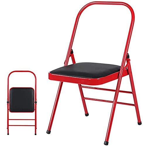 WWJ Pilates Yoga Massage Chair, Home Pieghevole Allargamento Ispessimento Yoga Esercizio Sedia Palestra Multifunzionale Sedia Invertita Sedia Ausiliaria, Rosso