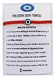 SabelAX - Ojo Turco Pulsera - Hilo Rojo - Amuleto Proteccion Mal de Ojo y Buena Suerte - Unisex para Mujer y Hombre - Kabbalah - Pulsera Amistad Ajustable - Regalo